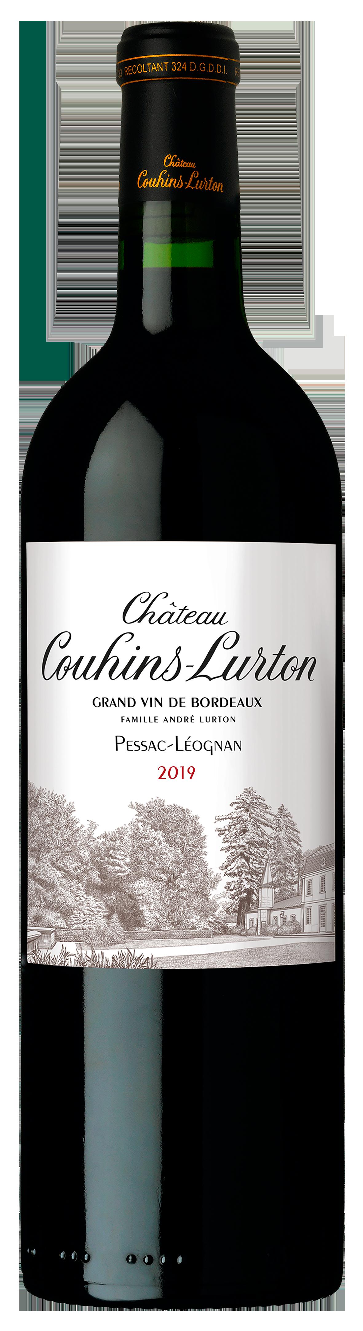 Visuel bouteille Château Couhins-Lurton rouge 2019